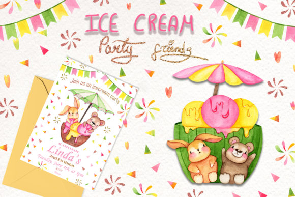 Ice Cream Party Friends Freebie