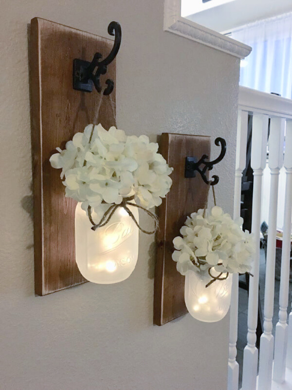 mason jar wall sconce
