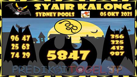 Syair Kalong Sidney Selasa 05 Oktober 2021