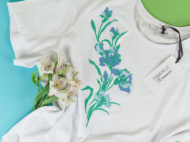 Женская футболка с вышивкой Фаберлик: отзывы с фото