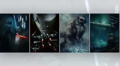 Star Wars Original Trilogy Fine Art Giclee Prints by Karl Fitzgerald x Bottleneck Gallery