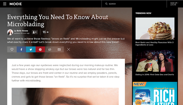 Mode Monthly | Everything You Need To Know About Microblading | The Why's & The How's