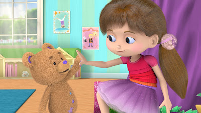 Bob the Bear and Bianca High Five Each Other in Wishenpoof An Amazon Original Series