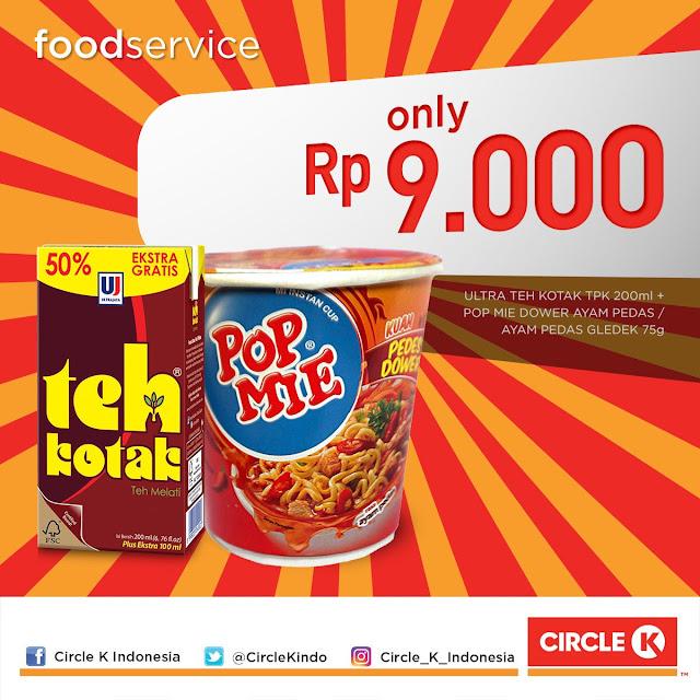 #CircleK - #Promo Paket Combo Special Teh Kotak & Pop Mire Dower Hanya 9Ribu