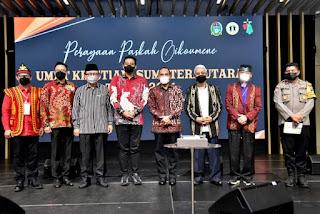 Hadiri Perayaan Paskah Oikumene, Gubernur Sumut Edy: Pentingnya Toleransi Antarumat Beragama