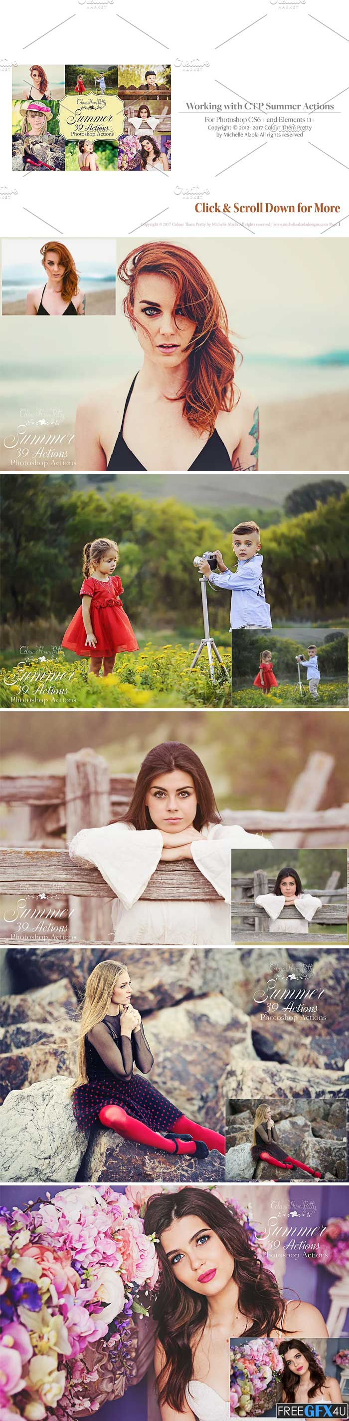 Summer Actions For Photoshop