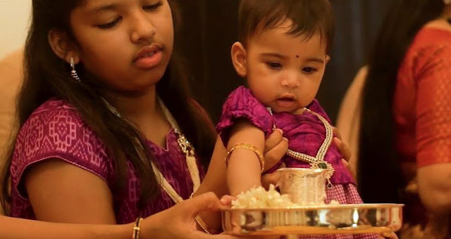 Srija Kalyan Daughter Navishka Annaprasana