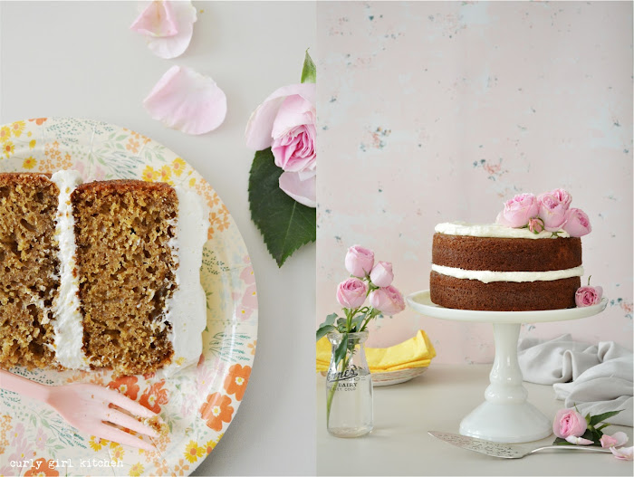 Naked Cake, Spice Cake, Brown Sugar Spice Cake, Cream Cheese Buttercream, Cake with Flowers, Cake Decorating, Fall Dessert Recipes