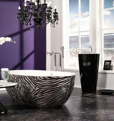 Diseño baño animal print