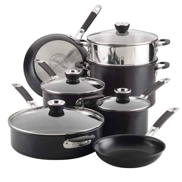 Steamy Kitchen is giving away this eleven piece Anolon Smart Stack Hard Anodized Nonstick Cookware Set to one lucky winner in February! Enter now!