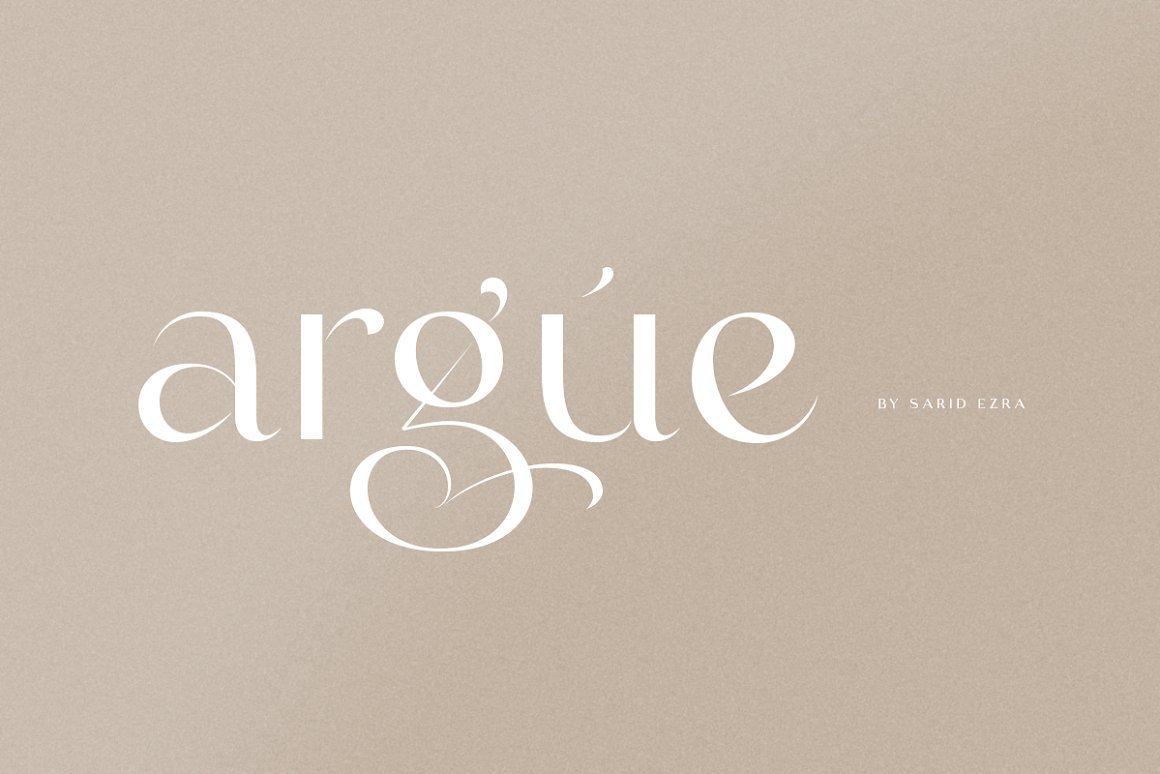 Argue Font - Free Elegant Sans Serif Font