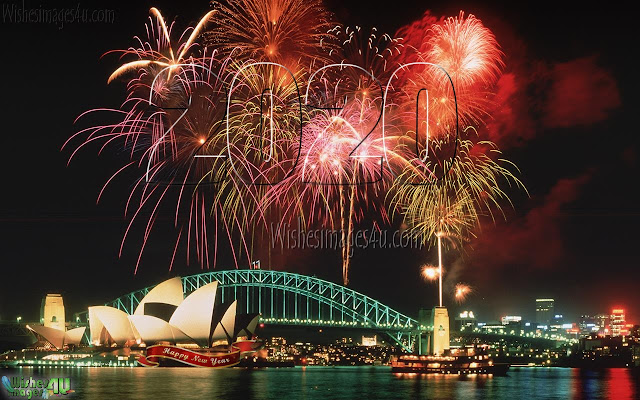 Happy New Year 2020 Full HD Fireworks Wallpapers Download