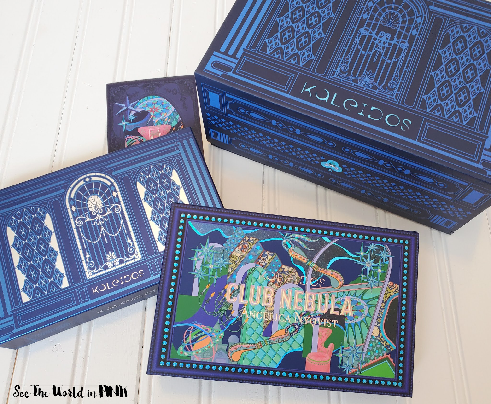Kaleidos x Angelica Nyqvist The Club Nebula Eyeshadow Palette - Swatches, Looks and Thoughts!