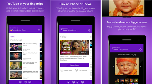 Teewe video streaming app is now available for Windows Phone Users