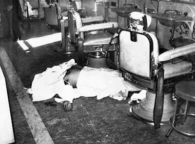 This photo is nowhere near as widely seen as the other infamous Albert Anastasia photograph on floor of the barbershop.