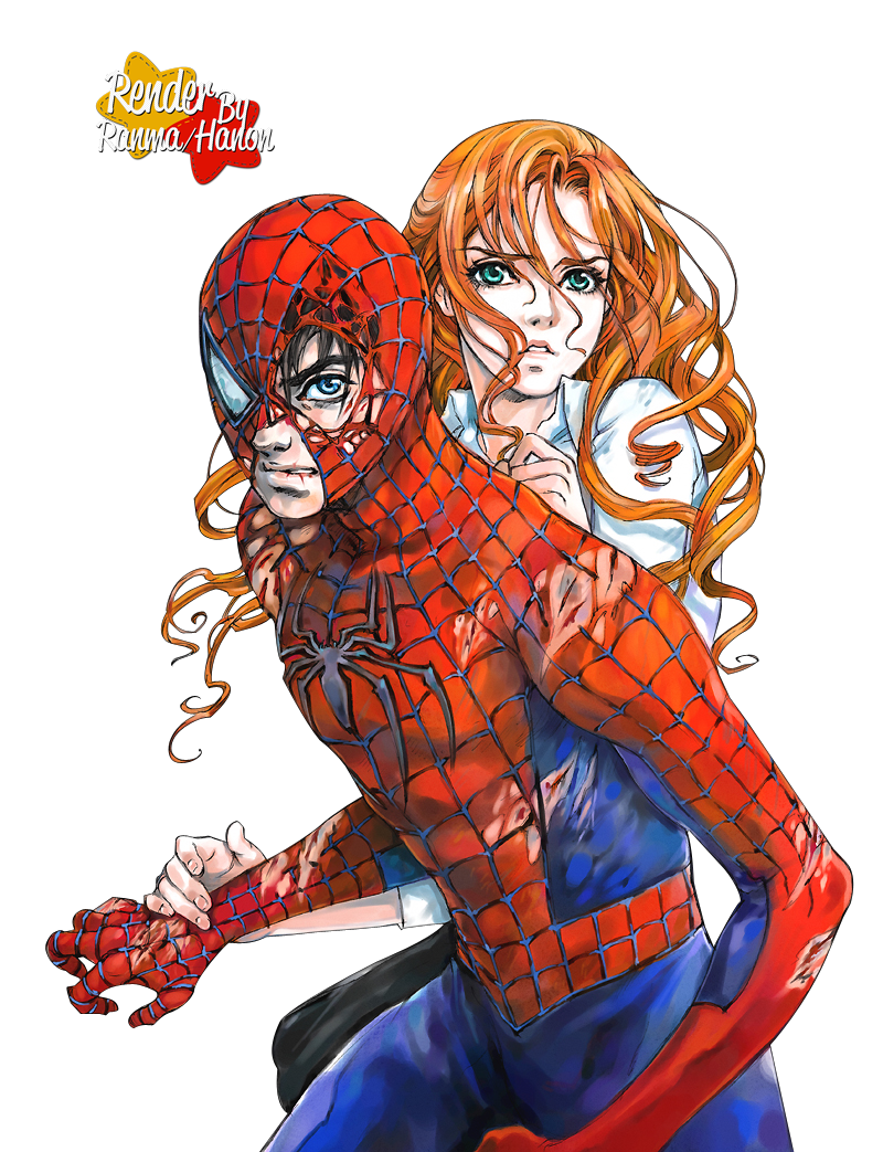 Render Mary Jane y Spiderman