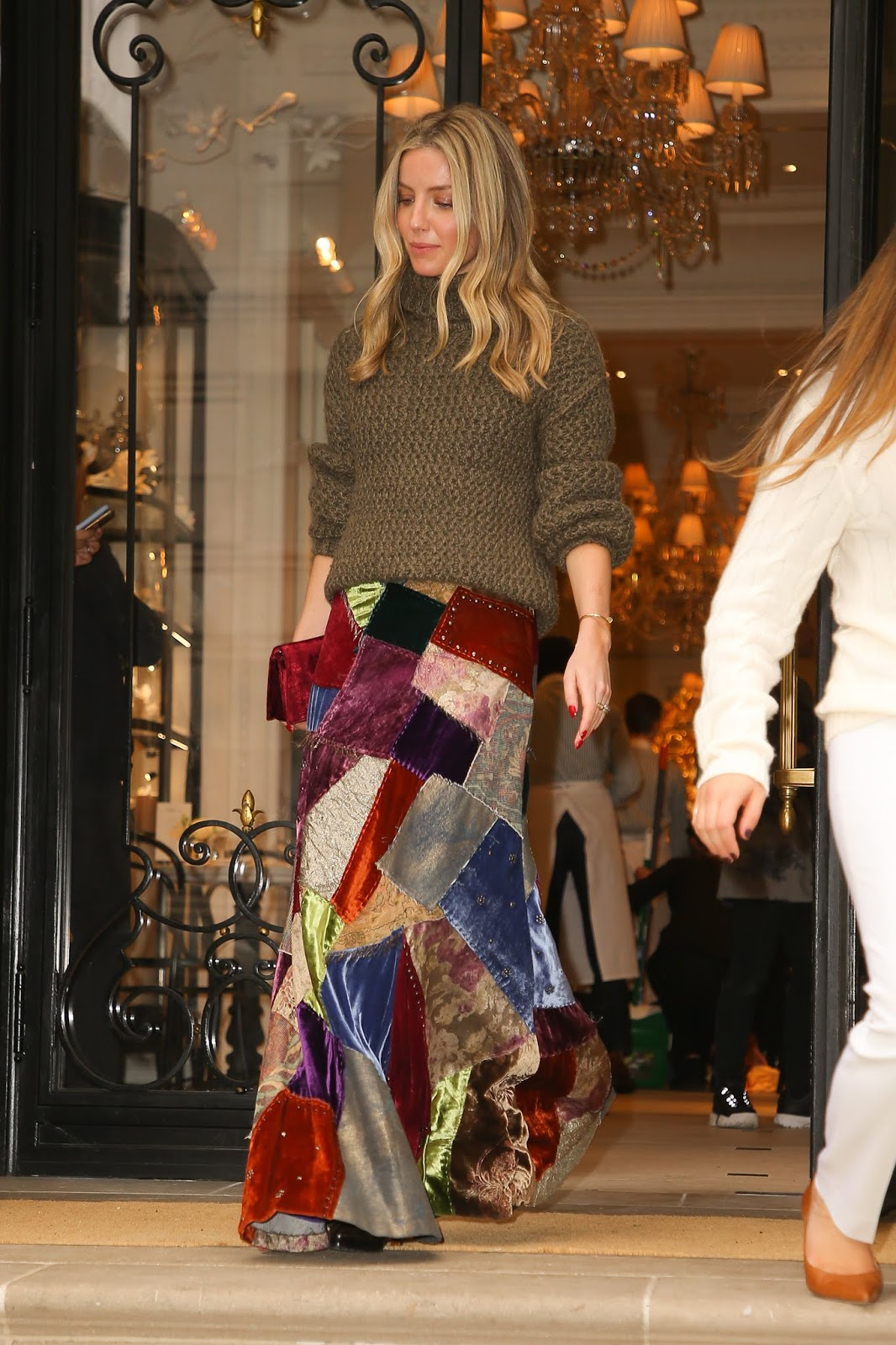 Annabelle Wallis seen coming out from the Ralph Lauren fashion show - 02/07/2019