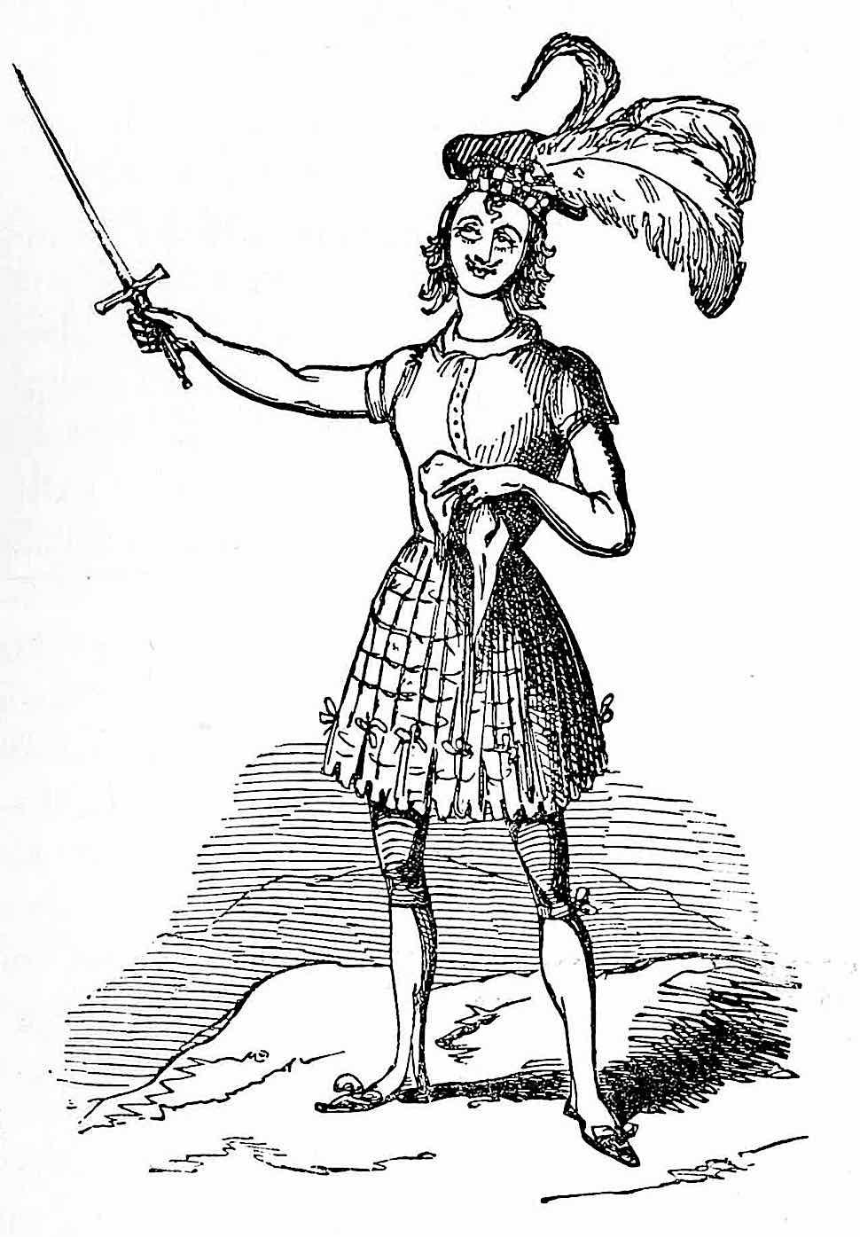 a William Makepeace Thackeray cartoon of a sissy Scotsman