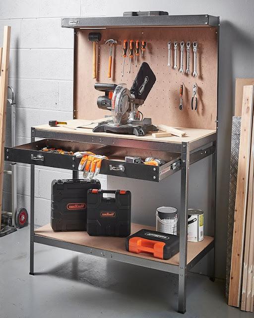 garage metal workbench ideas