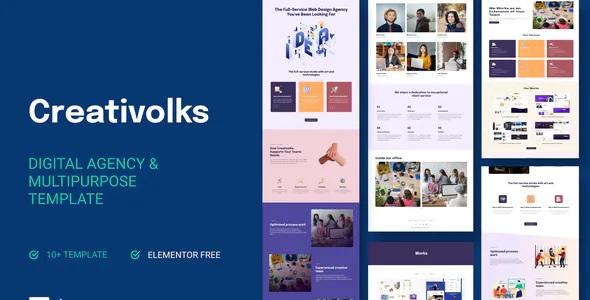 Best Creative & Business Agency Elementor Template Kit