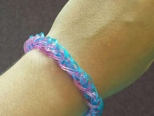 French Braid Loom band bracelets
