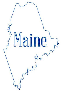 outline of Maine