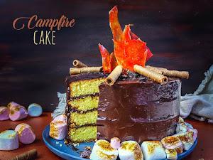 Campfire cake ou gâteau feu de camp !
