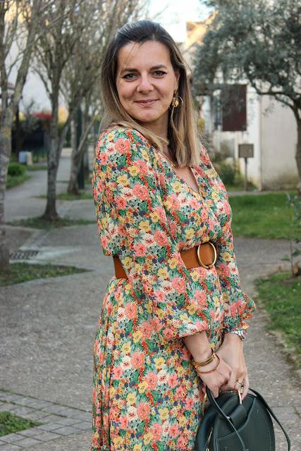 robe jardin pastel, robe sézane, look du jour, les petites bulles de ma vie