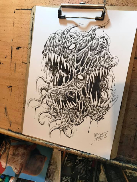 twisted horror creature art