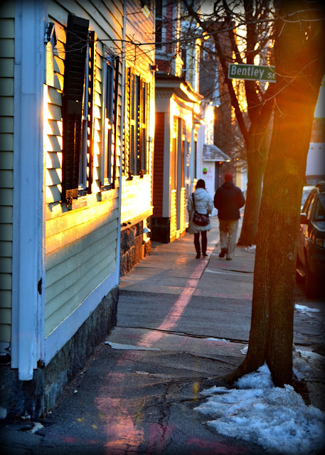 Shadows, Sunset, Derby Street, Salem, Massachusetts