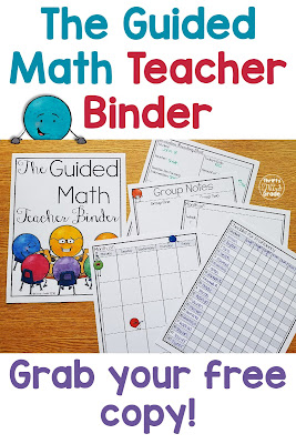 This free Guided Math binder can help you as you are teaching, working with groups, and doing your lesson plans. The cover is so fun and cute! There are pages for planning, calendars, data tracking, and more. You can use this binder to get yourself organized!