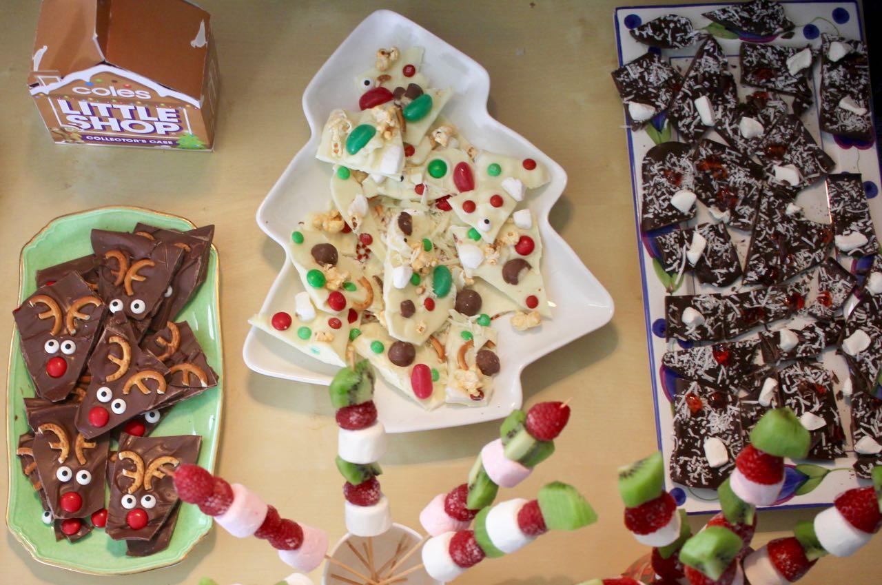 Green Gourmet Giraffe Festive Chocolate Bark For Christmas In July