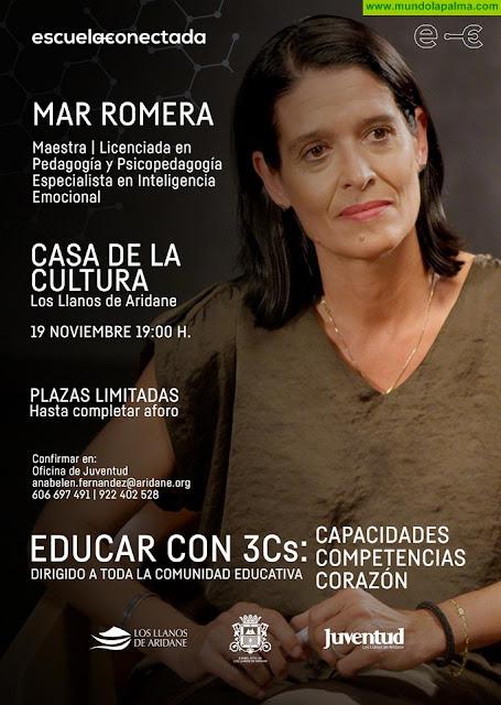 Mar Romera, especialista en inteligencia emocional y educativa, impartirá una charla gratuita a familias y educadores en Los Llanos