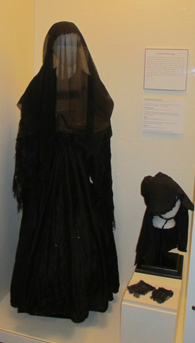 Widow in mourning exhibit, Museum of the Confederacy, Richmond, Virginia