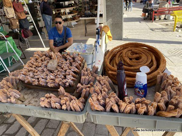 churro stand at El Mercado in Juarez, Mexico