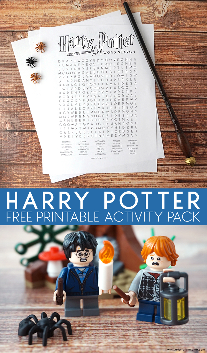 Free Printable Harry Potter Activity Pack