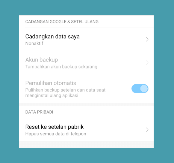 Reset HP Android WIFI Error