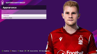PES 2020 Faces Joe Worrall by Rachmad ABs