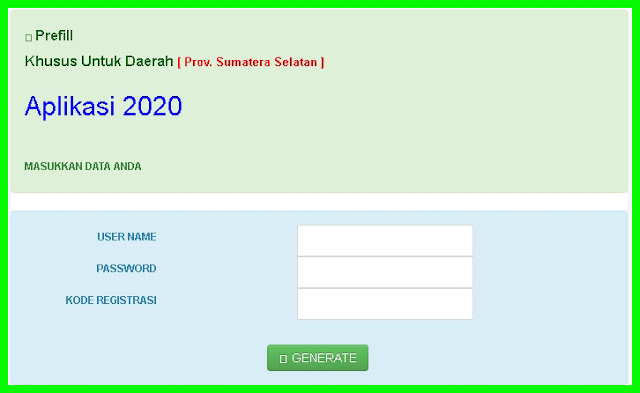 link download generate prefill dapodikdasmen 2020