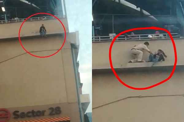 faridabad-sector-28-metro-station-police-save-girls-suicide