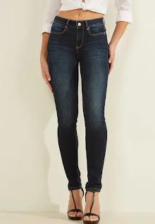 Дамски прилепнали Дънки без принт - Guess Jeans