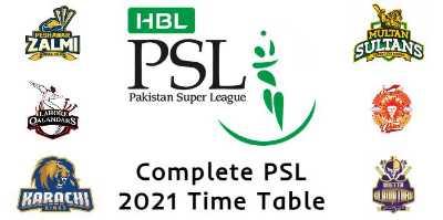 PSL 6 Points Table 2021 | Pakistan Super League Points Table