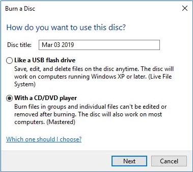 Cara burning CD di windows 10