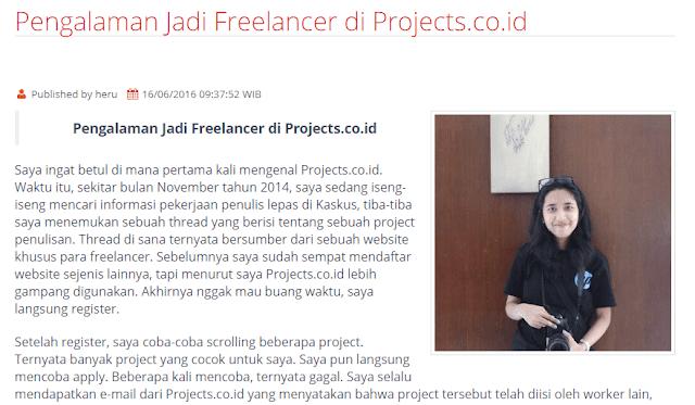 Pengalaman jadi Freelancer