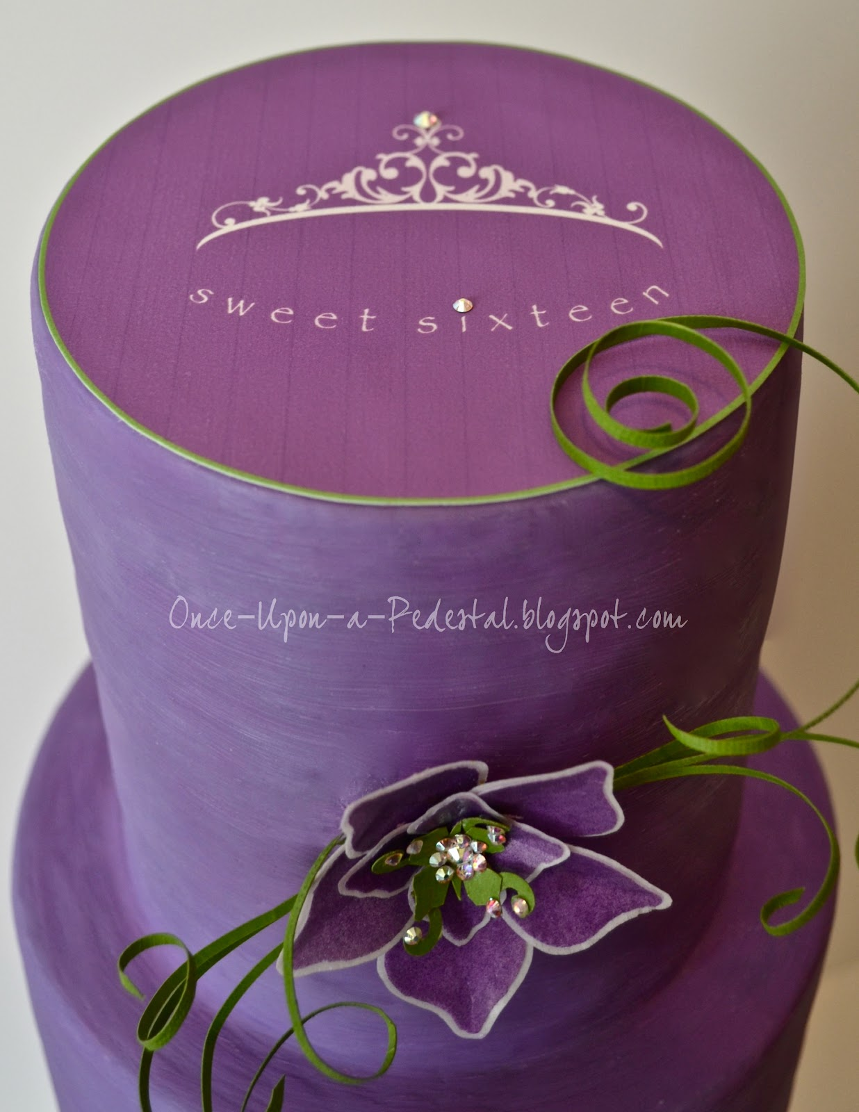 Once Upon A Pedestal Sweet 16 Cake For Cake Central Magazine