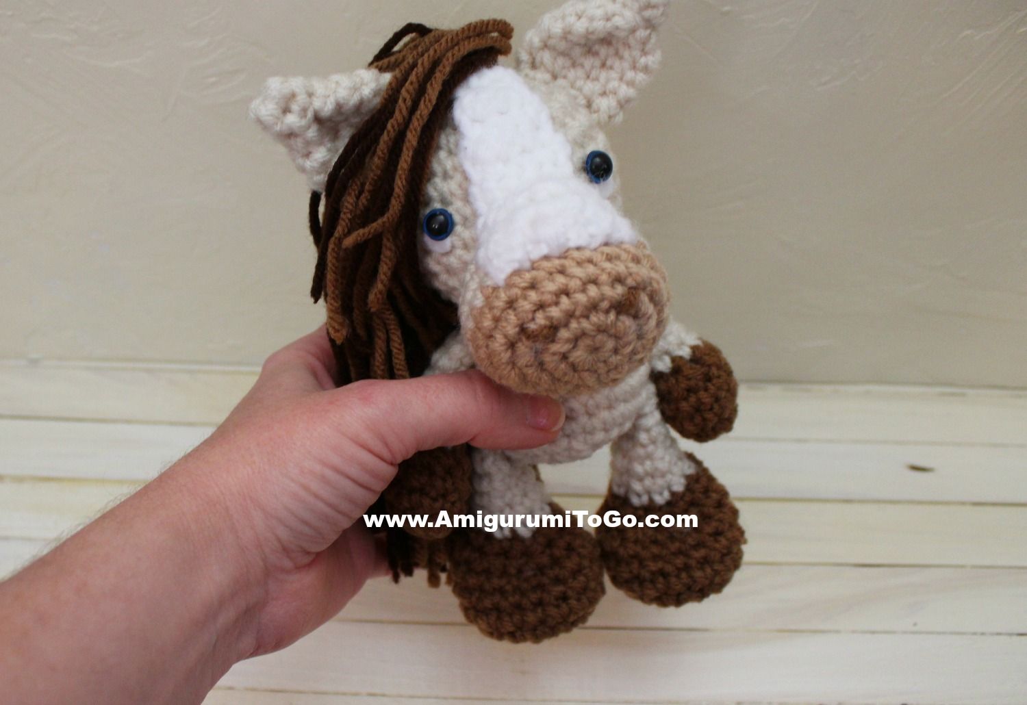 Amigurumi Horse Tutorial : Small horses toy crochet pattern pdf small cute amigurumi