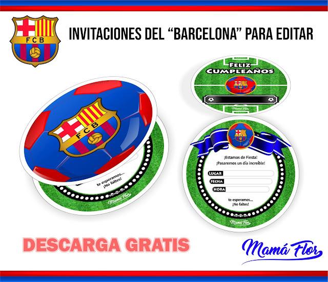 Invitaciones GRATIS para IMPRIMIR del Barcelona