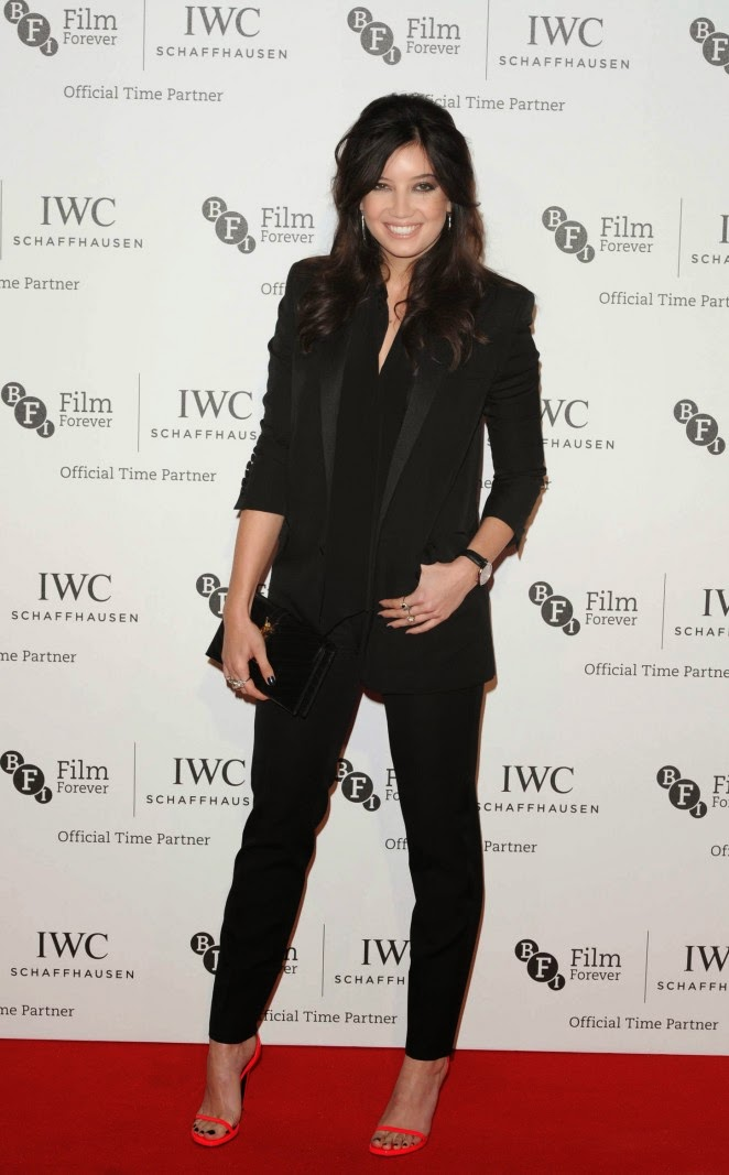 Daisy Lowe flaunts a black pantsuit at the BFI London Film Festival IWC Gala