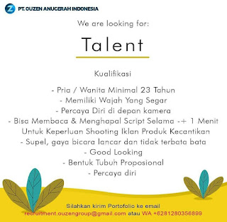 Talent di PT Ouzen Anugerah Indonesia