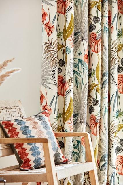 cortina estampa floral